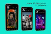 AR Masks, Filters for Instagram 8 - kwork.com