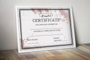 Creating a certificate 8 - kwork.com