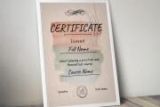 Creating a certificate 14 - kwork.com