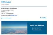 I will create editable clickable HTML email signature 4 - kwork.com
