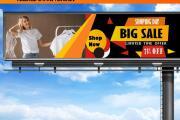 I will design a poster sign yard Roll up banner 4 - kwork.com
