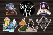 Sticker art 4 - kwork.com