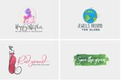 Do watercolor logo design 6 - kwork.com