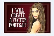 I will Create a vector portrait for you 8 - kwork.com