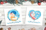 I will create cute postcard or poster illustrations 10 - kwork.com