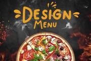 Design food menu for instagram, facebook stories and post 4 - kwork.com