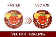 I will do professional vector tracing logo redesign illustrator work 5 - kwork.com