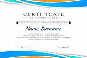 I can design certificates of any kind you demand 8 - kwork.com