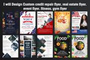 I will Design Credit Repair Flyer, Real Estate Flyer, Event flyer 12 - kwork.com