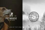 I will do a modern Line Art Text Logo or Badge Logo design 10 - kwork.com