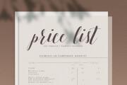Price list and menu design 19 - kwork.com