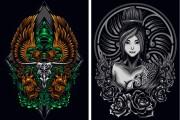 I will give you original 700 dark art, mascot designs for commercial 7 - kwork.com