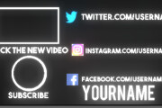 Amazing outro for youtube channel 6 - kwork.com
