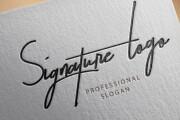 I will create a stunning signature logo 5 - kwork.com
