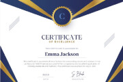 I will create awesome Certificate or Diploma Design 8 - kwork.com