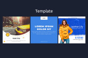 18 web banners templates pack 13 - kwork.com