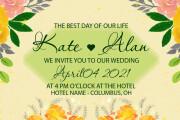 Party, wedding, birthday invitations 6 - kwork.com