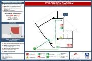 Create fire emergency evacuation plan, maps, diagram 5 - kwork.com