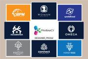 I will do a modern versatile flat minimalist business logo design 4 - kwork.com