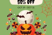 I will design halloween cards, flyers, brochures, posts 10 - kwork.com