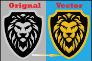 Any image or logo vector tracing, recreate logo and raster to vector 5 - kwork.com