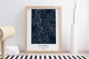 Decorative map of your city 5 - kwork.com