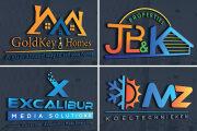 I will do modern minimalist logo design 7 - kwork.com