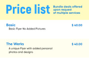 Price list for your business 6 - kwork.com
