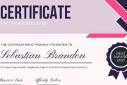 I will create awesome Certificate or Diploma Design 9 - kwork.com