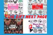 I will provide cut disney svg files 30k design bundle for etsy pod 5 - kwork.com