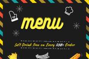 I will create a modern restaurant menu, food flyer, menu, brochures 8 - kwork.com