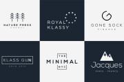 I will create your modern minimalist logo design 6 - kwork.com