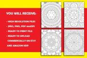 I will give you 1950 premium mandala coloring page 17 - kwork.com