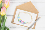 Postcard. The letters. Frames 14 - kwork.com