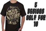 I will design 5 illustration or typography t-shirts          2 - kwork.com