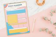 Design planner journal calendar guide checklist habbit water tracker 8 - kwork.com