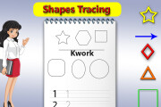 I will make handwriting practice letters tracing workbook for kids 9 - kwork.com