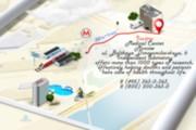 Beautiful road map, driving directions 8 - kwork.com